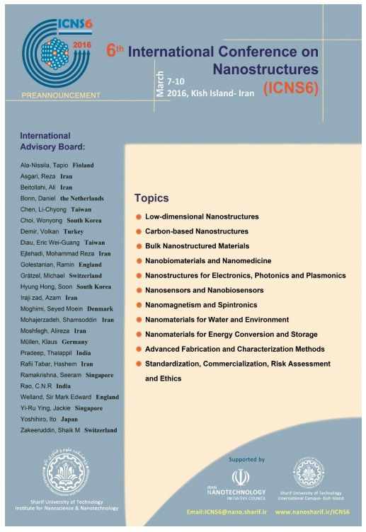 6th International Conference on Nanostructures